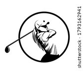 Golf Player Icon Logo...