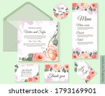 floral template for wedding... | Shutterstock .eps vector #1793169901