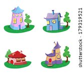 cartoon house icons | Shutterstock .eps vector #179319521