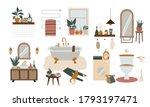 cozy bathroom interior.... | Shutterstock .eps vector #1793197471