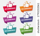 banner recommended with thumbs... | Shutterstock .eps vector #1793232061