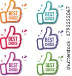 hand banner recommended with... | Shutterstock .eps vector #1793232067