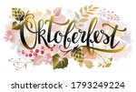 oktoberfest lettering with hop...   Shutterstock .eps vector #1793249224