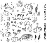 happy thanksgiving day poster... | Shutterstock .eps vector #1793251147