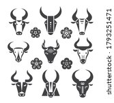 buffalo head logo. collection... | Shutterstock .eps vector #1793251471