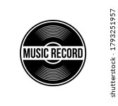 Vinyl Record Logo Template....