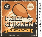 fried chicken signage poster... | Shutterstock .eps vector #1793253364