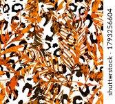 colorful leopard pattern design.... | Shutterstock . vector #1793256604
