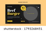 Beef Burger Banner Template For ...