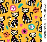 seamless pattern for day of the ... | Shutterstock .eps vector #1793286961