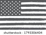 grunge usa flag. black and... | Shutterstock .eps vector #1793306404