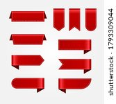 set of realistic red ribbons...   Shutterstock .eps vector #1793309044