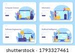 it education web banner or... | Shutterstock .eps vector #1793327461