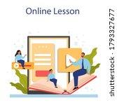 spanish learning online service ...   Shutterstock .eps vector #1793327677