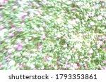 chopped green onions in blur...