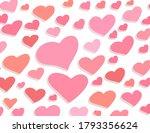 pattern heart illustration... | Shutterstock . vector #1793356624