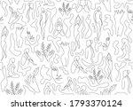 line art woman silhouette... | Shutterstock .eps vector #1793370124