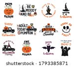 happy halloween emblems logo... | Shutterstock .eps vector #1793385871