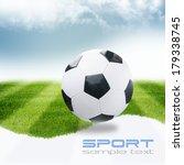 soccer ball on green stadium | Shutterstock . vector #179338745