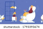 girl relaxes in a professional... | Shutterstock .eps vector #1793393674