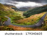 winding mountain road over a... | Shutterstock . vector #179340605