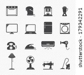 electronic home icons | Shutterstock .eps vector #179342291