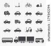 transportation icons | Shutterstock .eps vector #179342294