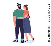 young happy couple.man and his...   Shutterstock .eps vector #1793464801