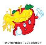 noodle mascot | Shutterstock . vector #179350574