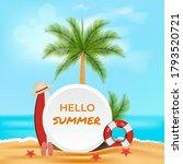 summer beach graphic design... | Shutterstock .eps vector #1793520721