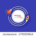 rocket launch with creative... | Shutterstock .eps vector #1793529814