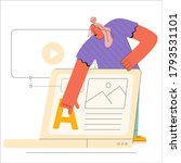 a designer is creating a web... | Shutterstock .eps vector #1793531101