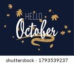 hello october autumn seasonal... | Shutterstock .eps vector #1793539237