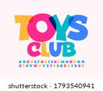 vector playful emblem toys club.... | Shutterstock .eps vector #1793540941