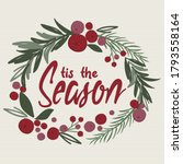 decoration christmas wreath... | Shutterstock .eps vector #1793558164