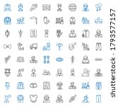 male icons set. collection of... | Shutterstock .eps vector #1793577157
