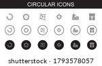 circular icons set. collection...