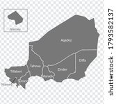 Blank Map Republic Of Niger In...