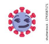 coronavirus emoticon flat icon  ... | Shutterstock .eps vector #1793587171
