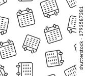 calendar icon in flat style.... | Shutterstock .eps vector #1793587381