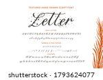 handwritten script font....   Shutterstock .eps vector #1793624077