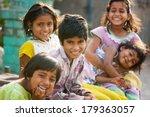 rural children friends morning... | Shutterstock . vector #179363057