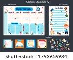 school timetable for week in...   Shutterstock .eps vector #1793656984