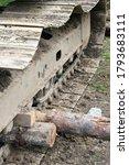 Excavator Tracks. Old Iron...