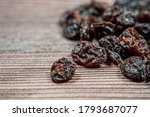 Close Up Of Raisins Isolated On ...