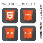 vector collection of html web... | Shutterstock .eps vector #179369129