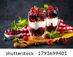 Parfait with yogurt  granola ...