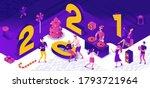isometric illustration of 2021... | Shutterstock .eps vector #1793721964