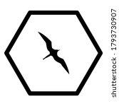 Frigate Bird And Hexagon On...