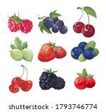 forest berries cartoon vector... | Shutterstock .eps vector #1793746774